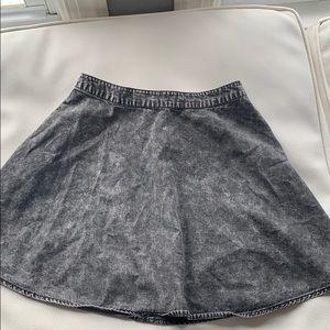 Black/ gray biker skirt